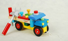 Wooden toy car assembly nut disassembly toys christmas gift toy