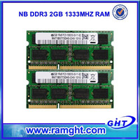 2015 best price 128mb*8/16c ddr3 2gb ddr 1333 laptop memory