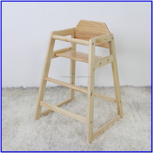 pin wood safty design high sitting dining chair for restaurant/dinning room