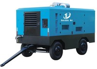 Portable diesel air compressor For China water well drilling rig
