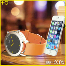 Fashion mens stainless steel luxury smart watch for Huawei android smart phones