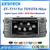 ZESTECH car dvd player with gps for Toyota Hilux car radio wholesale supporting SWC, sd, usb, 3G