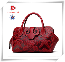 Most Popular Design Vintage Leather Tote Bag Wholesale Handbag China