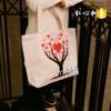 Wholesale Newest Fashion women shopping reusable canvas cotton bag