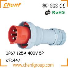 Hot Sell Waterproof IP67 125A Industrial plug 3P+E+N 400V