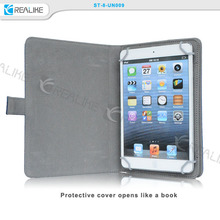 Eco-friendly Lychee pattern PU leather rotation tablet case for ipad mini