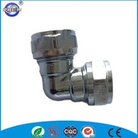 cw617n forged female thread equal elbow chrome brass pipe fitting