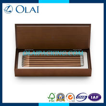 2014 deluxe elegant wooden promotional pencil case for sale MDF with lacquer