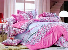 new style cotton colour king size bedding sets 3d 3 pcs 2014 Hot Sale Top Selling 3D 100%cotton embroidery lovely crib bedding
