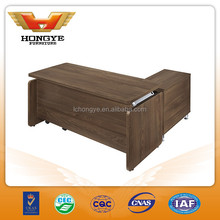 Good quality wooden office table with side table HY-JT23