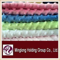 2015 new design super soft plain minky fabric wholesale for Baby Blanket