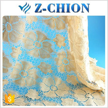 Super quality Fujian factory nylon elastic rose flower french lace fabric for ladies garment