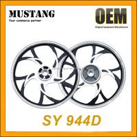 Motorcycle three spoke cut custom wheels, aluminum high polished motorcycle wheel rims