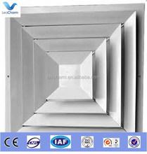 newest decorative aluminum square ceiling air diffuser