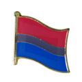 Personalizado, el precio bajo, de metal única bisexuales bandera pin badge manualidades barata