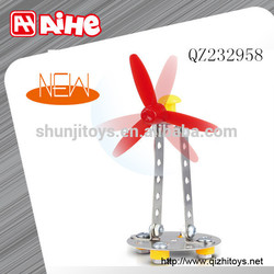 DIY toy manufacturer in china,metal windmill puzzle,kid brick