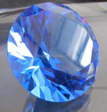 Hot Sale Large Blue Crystal Glass Diamonds For Promotion Gifts