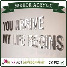 Hot Sale Custom magnifier mirror mirror decorative wall sticker Acrylic Mirror Glass With Laser Logo