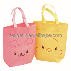 promotional pp non woven shopping bag with custom logo printing