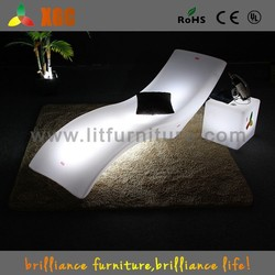 led furniture multy-color PE material plastic sofa bed with drawer