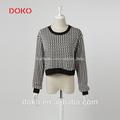 2014 nueva llegada junta- cuello mangas largas plovo caso elegante blusa de diseño