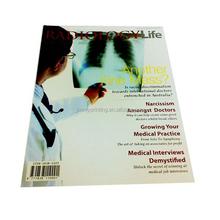 Customized journal magazine printing with saddle stitch