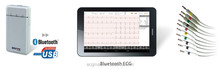 CE Approved Wireless Bluetooth PC-based ECG with Connectivity to ECG Network System and Tablet