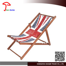 Reliable Quality Delicate Wooden Base Folding Deck Chair For Kids