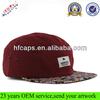 Cheap applique adjustable 5 panel cap snap back