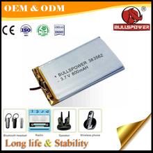 Lipo li-ion3.7v 950mah lithium ion car battery for rc electric car