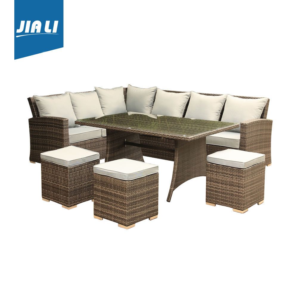Quality Guaranteed Patio Outdoor Furniture Rattan Garden Sofa Sectional Sofa