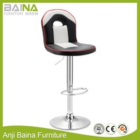 High swivel racing style chair bar stool with gas lift