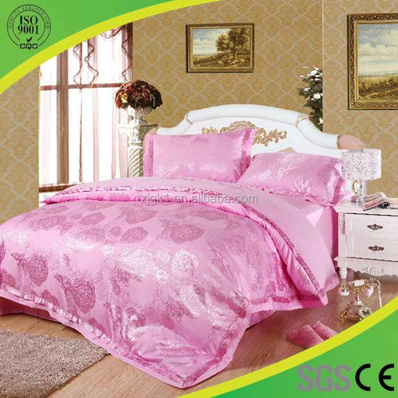 High Quality Comfortable Pink Healthcare Bedding 4 Sets