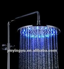 Jfq044cp mudança de cor de controle de temperatura chuvas LED cabeça de chuveiro