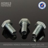 DIN933 Carbon steel BZP ZP YZP BLACK HDG Class 4.8 8.8 10.9 12.9 Hex bolt M1.6-M55