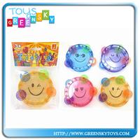 Kids Small Face Clear Mini Plastic Tambourines