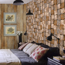 Gris Hot Sale Fashion Design Superwall Series Theme Mural Square Wood Sleeper Non-woven Wallpaper for Hotels