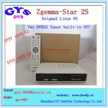 Linux OS Enigma2 HD sat receiver Zgemma Star 2s HD satellite tv receiver with internet connection