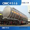 CIMC Aluminum Alloy Fuel Tanker Trailer , Fuel Tank Trailer for sale