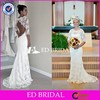 CE1146 Newest Gorgeous Half Sleeve Sexy Open Back Delicate Lace Wedding Dress