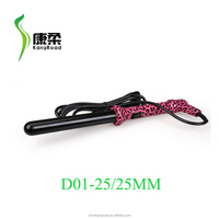 Hair curler with injection color/water transfer print/metal rubber paint
