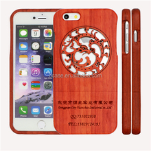 China Products Laser Engraving Wooden Cell Phone Case Cover for iphone 6