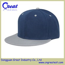 High Quality Jean Plain Blue And Grey Snapback Hat