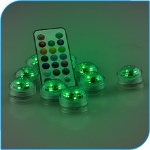 2015 Wedding Decoration Remote controlled Led Submersible Mini Lights