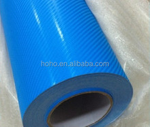 Self adhesive film carbon fiber 4d, vinyl car wrap, green auto carbon fiber wrap vinyl film