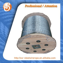 Electro Galv. wire rope 6x19+IWRC-22mm