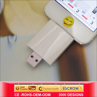 Sustyle ABS White OTG Flash Drive support all kinds of files otg usb for iphone