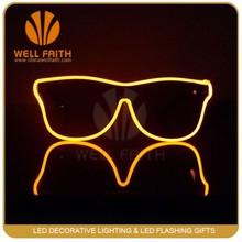 Teenagers lover led light glasses,Half-frame El wire light up sunglasses