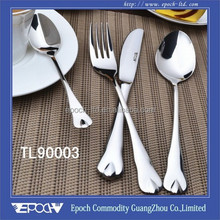 Stainless steel mirror polish spoon and fork wedding gift
