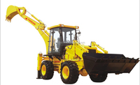 4*4 compact tractor with loader and backhoe